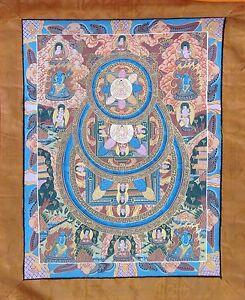 Shakyamuni Buddha Mandala Thangka Thanka Silk Brocade Scroll Wall Decor Painting
