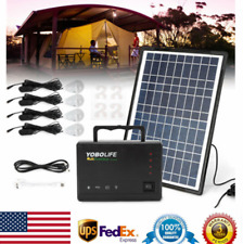 Solar Generator Solar Panel Power Inverter Electric Generator Kit Light Portable