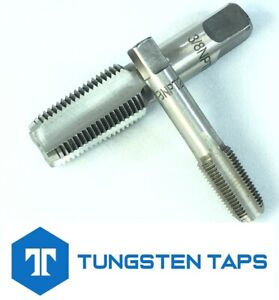 """Trade Quality 1/8"""" 1/4"""" 3/8"""" NPT Taps And Dies Tungsten Steel UK Seller"""