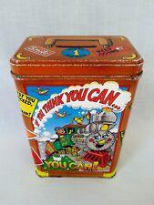 Piggy BankMoney Bank Cash Coin Savings Tin Box Litho TrainStickersCool Gift