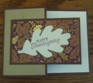 Stampin up card making kit - Blackberry Beauty - Happy Thanksgiving