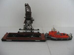 Kibri H0 Schubschiff 38520 + Leichter 35522 mit Portalkran gebraucht