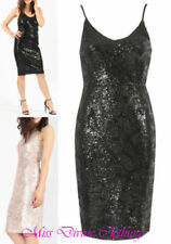 Polyester Strappy Dresses for Women with Sequins