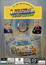 Werbeplakat & AK Rallye Lëtzebuerg 2017 Walter Röhrl & Christian Geistdörfer