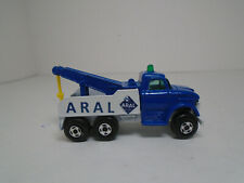 MATCHBOX MB71-A1 FORD HEAVY WRECK TRUCK RESTO-MODIFIED TO RARE DARK BLUE ARAL
