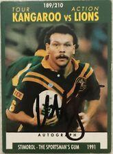 ✺Signed✺ 1991 Scanlens Stimorol Cliff Lyons (Australia Kangaroos) NRL card