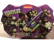 NIB INickelodeon Teenage Mutant Ninja Turtles 3 Puzzle Set in Collectible Tin
