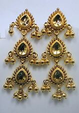 traditional design 22k gold earrings rajasthan india handmade jewelry