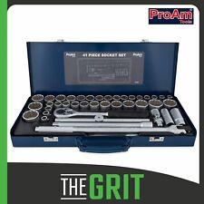 """ProAm Socket Set by KC Tools 41pc 1/2"""" Dr AF & Metric Socket Set In Steel Case"""