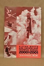 2000-2001 Salomon Alpine Ski Boots Snowblade Course Evolution Technical Manual