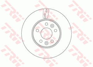 TRW Brake Rotor Front DF6751S fits Renault Trafic 1.6 dCi 140 (X82) 103kw, 1....