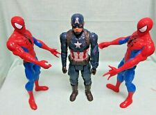 New Listing2 Spiderman&Captain America 12� Action Figures 2013/2016 Hasbro Lot Of 3