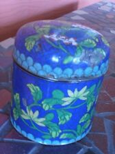VINTAGE DARK BLUE CLOISONNE TRINKET / CIGARET BOX  - CHINESE **ESTATE HOARD**