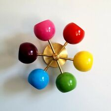 Sputnik Chandelier Mid Century Modern Industrial Multicolored Ceiling Fixture