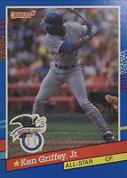 "1991 Donruss Ken Griffey Jr All Star ""INC"" Error No Dot HOF Rare NMMT #49"