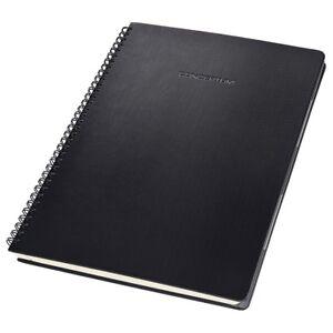 Sigel CO840 Spiralblock kariert A4 Hardcover schwarz 80 Blatt Notizblock Notiz