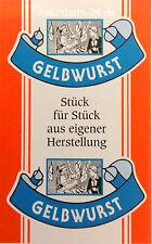 Kunstdarm, Kaliber 55/21, gelb, mit Druck, Gelbwurst, 25 Stück
