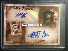 2018 TOPPS THE WALKING DEAD SEASON 8 CARL GRIMES ENID AUTO 4/10