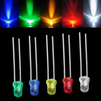 White Green Red Blue Yellow LED Light Bulb Emitting Diode Lamps 100pcs 3mm