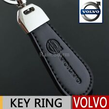 Volvo Keyring NEW UK Seller Silver Black Car Key Ring KeyChain Leather