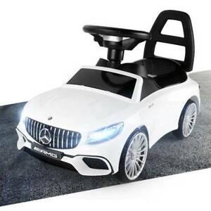 Mercedes-Benz S AMG 65 Rutschauto LED Kinderfahrzeug Kinderauto Lizenz Weiß