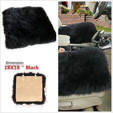 "Car Seat Breathable Warm Soft Covers Chair Cushion Sheepskin Long Wool 18""x 18"""