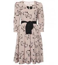 New ALANNAH HILL Blush Pink Black Heart Print Silk My It Girl Dress 14 $349