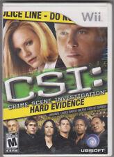 CSI: Crime Scene Investigation - Hard Evidence (Wii, 2008) ~ Used Complete ~