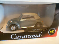 VOLKSWAGEN COCCINELLE CABRIOLET AVEC CAPOTE GRISE : CARARAMA ~  NEUF