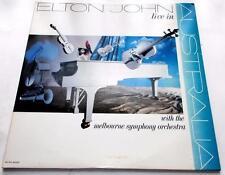Elton John Live In Australia 1987 MCA 8022 Rock Gatefold 33 rpm 2 Vinyl LPs VG+