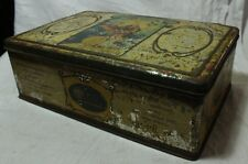 OLD VINTAGE UNIQUE HIND DEVI GOD LAXMI TIN BOX COLLECTIBLE