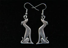 Greyhound Earrings - Whippet or Galgo Earrings - Pewter Jewelry