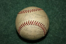 RARE 1937 Detroit Tigers team signed baseball Greenberg Goslin Gehringher