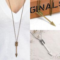 HOT Men's Women Fashion Necklace Jewelry Arrow Pendant Long Chain Necklace Gift