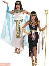 Adult Cleopatra Costume Egyptian Queen Greek Goddess Fancy Dress Ladies Womens