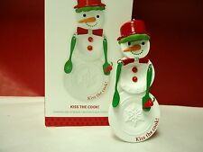 Hallmark 2013 Kiss the Cook Snowman with Spatula Collectible Ornament New in Box