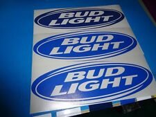 "Bud Light 18"" vinyl cornhole / Bag Toss decals set of 2 Budweiser / Beer"