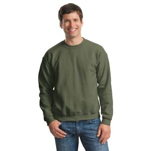 GILDAN 18000 Unisex Size S-2XL Pullover Heavy Blend Crewneck Sweatshirt Jumper