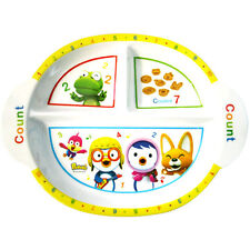 Pororo Kids Food Tray Melamine Ellipse Food Teens Eating Lunch Dinner Gift