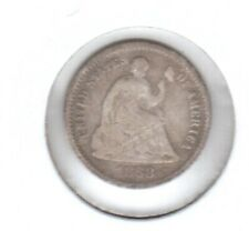 1868S HALF DIME IN GOOD CONDITION