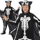 Bat Skeleton Costume Halloween Boys Childrens Child Kids Fancy Dress Outfit