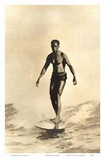 Hawaiian Surfer Duke Kahanamoku Art Poster Print, 12x18