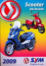 SYM scooter prospectus 3/09 CITYCOM 300 i GTS 250 millions 50 Roller brochure 2009