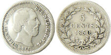 PAYS  BAS  ,  WILLEM  III  ,  5  CENTS  ARGENT  1850