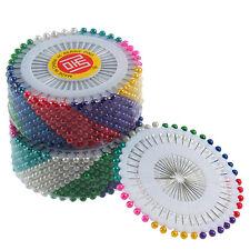 480 Stecknadelnnadeln Nadeln bunter Kopf Perlennadeln Bastelnadeln needles Pop^