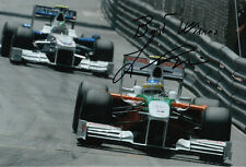 Giancarlo Fisichella Hand Signed Force India Monaco Photo 12x8 2.