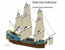 East Indiaman Ship Custom Lego Pirate Imperial Armada (Instructions Only)