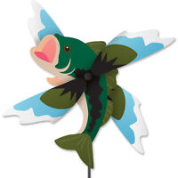 Bass Fish Staked Wind Whirly Wind Spinner..24.... PR 21806