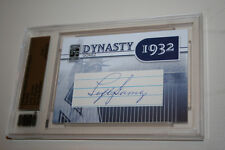 2010 SP Famous Fabrics Yankees Dynasty Prime Cuts Lefty Gomez Auto 1/1 HOF