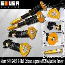 For 95-98 Nissan 240SX S14 Full coilover Suspension lowering kits NonDamper GOLD
